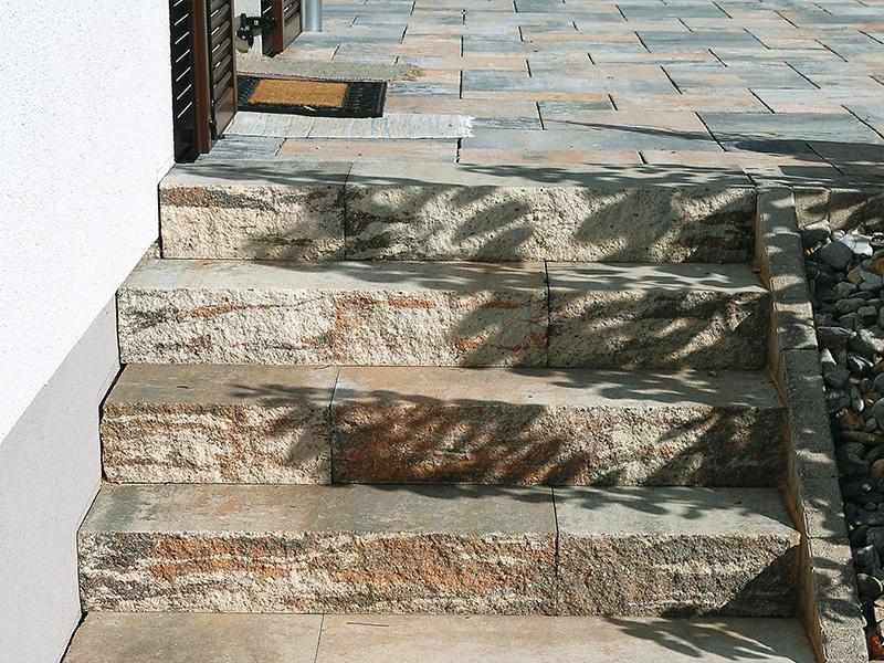 Muschelkalk Frostsicher außengestaltung platten franz maier beton und schotterwerk